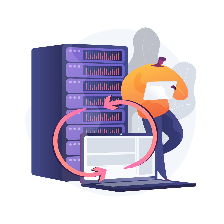 Backup server, backup di ripristino dati